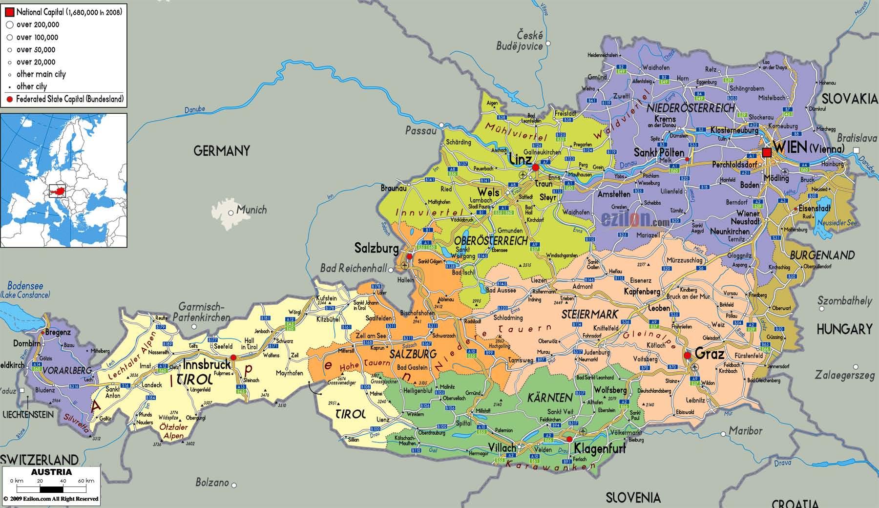 ausztria térkép burgenland .geoturizmuscentrum.hu ausztria térkép burgenland